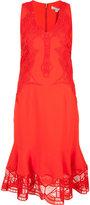 Jonathan Simkhai sheer ruffled hem dress - women - Polyester/Spandex/Elastane/Acetate/Viscose - 0