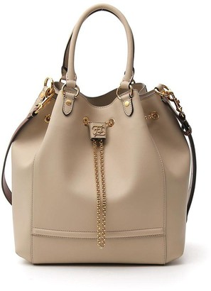 Fendi FF Plaque Bucket Bag