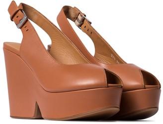 Clergerie Dylan leather platform sandals
