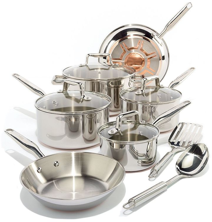 T-Fal 12-pc. Ultimate Stainless Steel Copper-Bottom Cookware Set