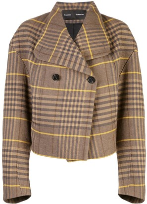 Proenza Schouler Oversized Wool Plaid Jacket