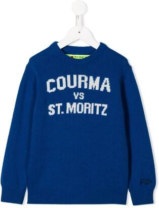 MC2 Saint Barth Kids slogan embroidered jumper