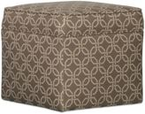 Somers Furniture Cool, Calm, Composed 24-Inch Square Storage Ottoman in Sunbrella® Brown