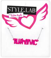 Fashion Angels Pink & Silvertone 'Authentic' Pendant Necklace