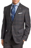 Ted Baker Men's 'Jay' Trim Fit Plaid Wool Sport Coat