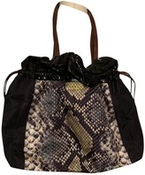 Prada Black Python Handbags
