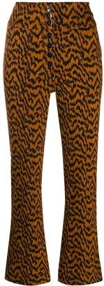 Ulla Johnson Ellis ikat zebra-print jeans