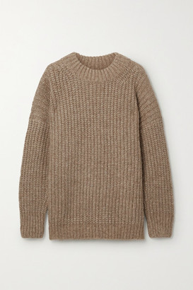 LAUREN MANOOGIAN Fisherwoman Ribbed Alpaca And Organic Cotton-blend Sweater - Camel