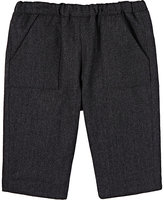 Bonpoint Flannel Pull-On Pants-GREY