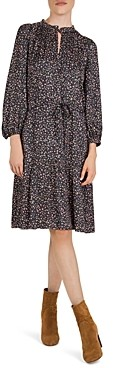 Gerard Darel Dixie Floral Print Tie Detail Dress
