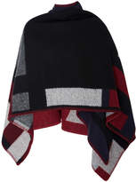Burberry Color Block Poncho