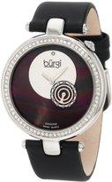 Burgi Women's BU42BK Round Swiss Quartz Dazzling Diamond Watch