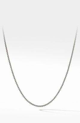 David Yurman Box Chain Necklace with 14-Karat Gold