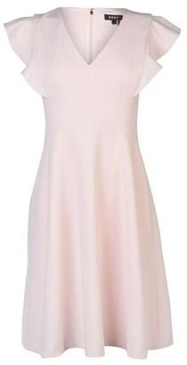 DKNY V Neck Ruffle Dress Ladies