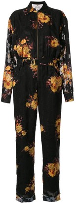We Are Kindred Ibiza sunflower print boilersuit