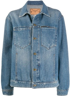 McQ Swallow Denim Faded Jacket