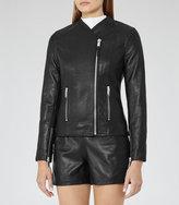 Reiss Rivington Collarless Leather Jacket