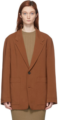 Studio Nicholson Brown Conde Oversized Blazer