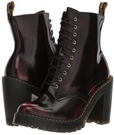 Dr. Martens Kendra 10-Eye Boot (Cherry Red/Arcadia) Women's Boots