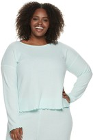 Sonoma Goods For Life Plus Size Women's SONOMA Goods for Life Long Sleeve Waffle Top