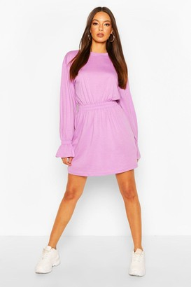 boohoo Shirred Waist T-Shirt Dress