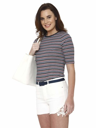 Vero Moda Women's Vmseven Mr Slim Crochet Lace Shorts