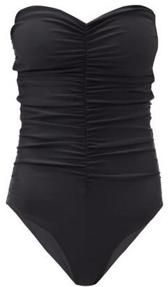 JADE SWIM Yara Ruched Strapless Swimsuit - Black