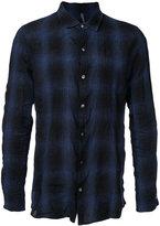Kazuyuki Kumagai - checked shirt - men - Cotton/Linen/Flax - 1