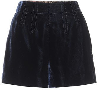 Etro Exclusive to Mytheresa High-rise velvet shorts