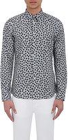Paul Smith Men's Heart-Print Shirt-GREY