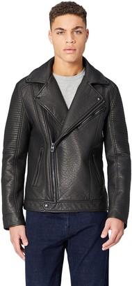 Find. Amazon Brand Men's Faux Leather Biker Jacket