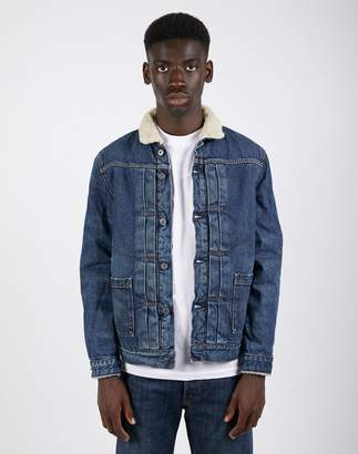 Levi's Made & Crafted Type II Sherpa Trucker Jacket Blue