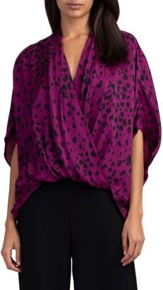 Trina Turk Concourse Silk-Blend Top