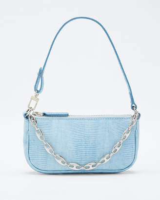 BY FAR Rachel Mini Lizard-Print Leather Shoulder Bag