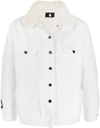 DUOltd Slogan-Print Shirt Jacket