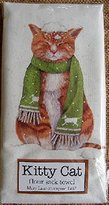 Cat in Mice Scarf, Snow Mary Lake Thompson Winter Flour Sack Towel
