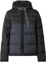 James Perse Two-tone Quilted Shell Down Jacket - Midnight blue