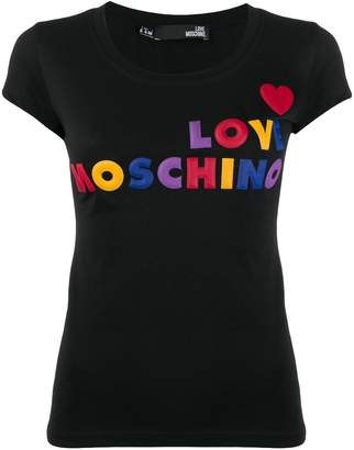 Love Moschino logo-appliqué T-shirt
