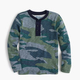J.Crew Boys' long-sleeve henley T-shirt in camo
