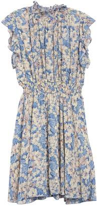 MelloDay Smocked Ditsy Print Dress