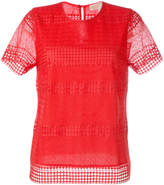 MICHAEL Michael Kors patterned panel T-shirt
