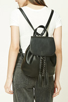 Forever 21 FOREVER 21+ Tasseled Faux Leather Backpack