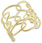 Catherine Malandrino 18K Goldplated Interlace Cuff Bracelet