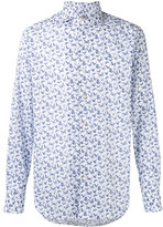 Canali butterfly print slim-fit shirt