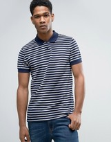 Esprit Slim Fit Striped Polo Shirt
