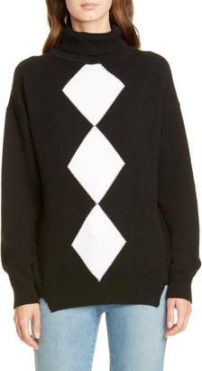 Victor Glemaud Diamond Turtleneck Cotton & Cashmere Sweater