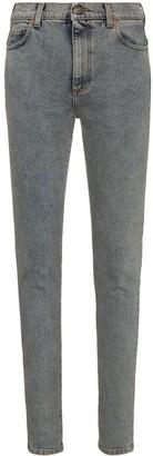 Gucci High Waisted Logo Print Skinny Jeans