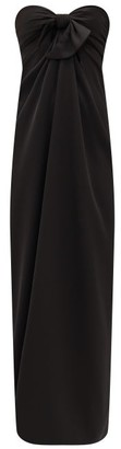 Ellery Cicero Knotted-front Draped Maxi Dress - Womens - Black