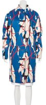 Cédric Charlier Printed Knee-Length Coat