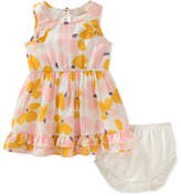 Kate Spade Floral Ruffle-Hem Dress W/ Bloomers, Size 12-24 Months